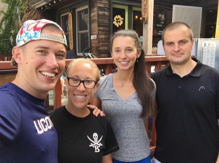 Patrick, Ally, Kate, and Neal at Lelani's Cafe