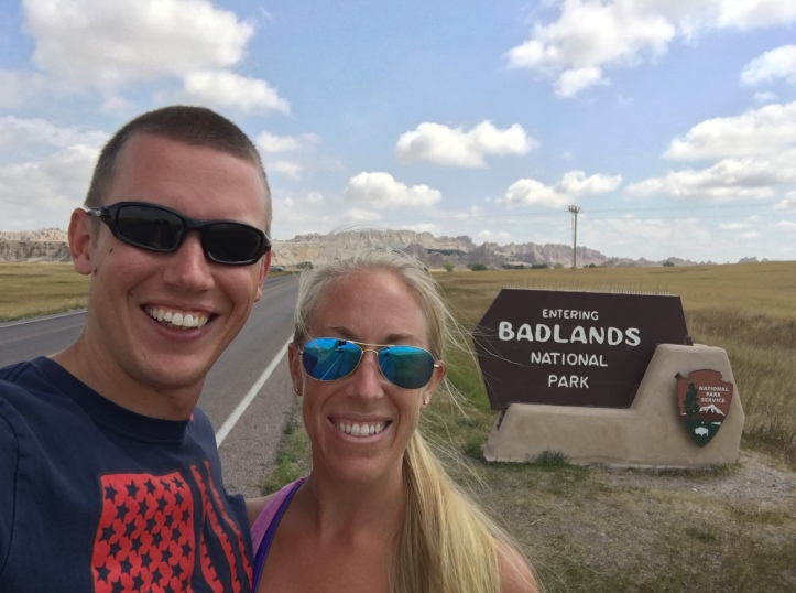 4 - Us at Badlands Entrance