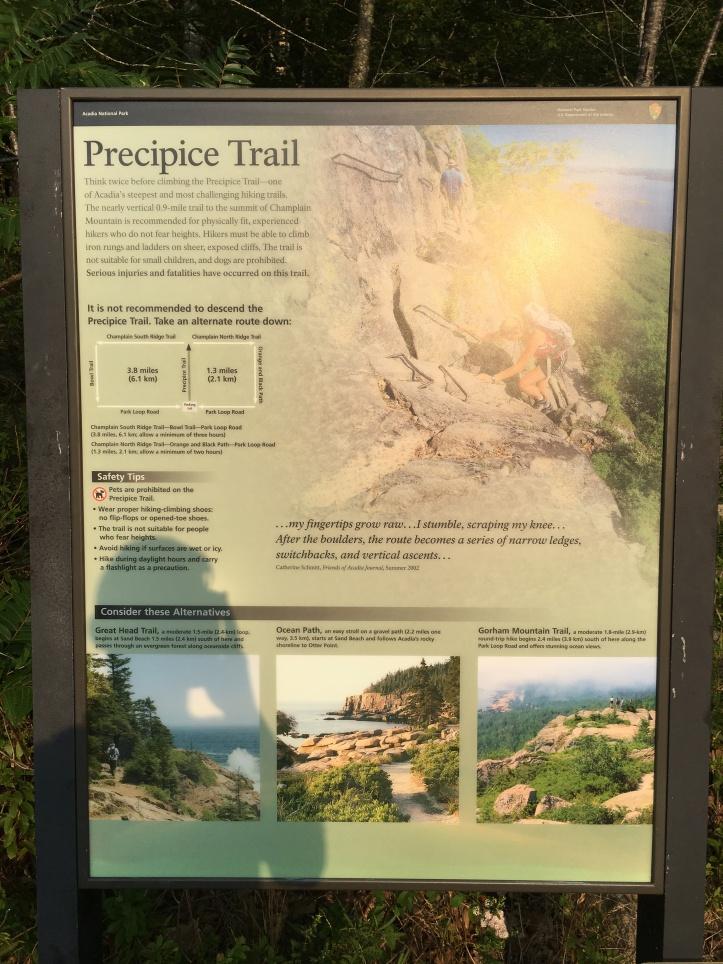 2b - Precipice Sign